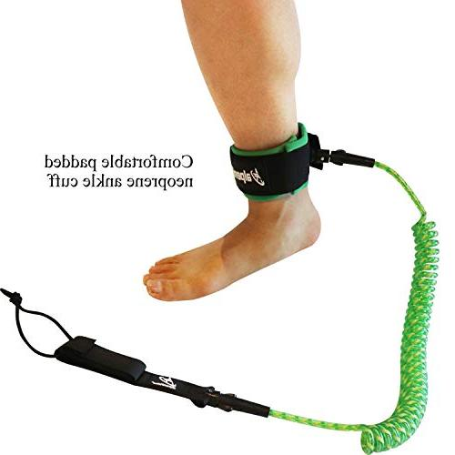A Coiled SUP Leash Leg for Surfboard Paddle Board,