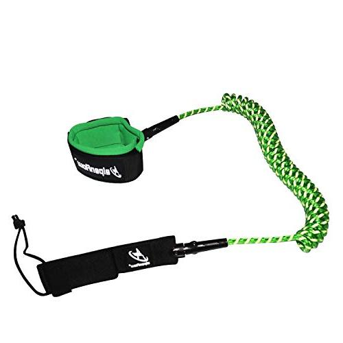 A ALPENFLOW 10' Coiled SUP Leg for Paddle Green