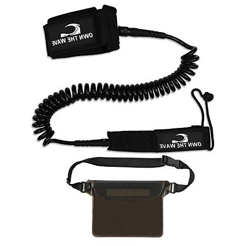 Own the Wave Coiled SUP Leash & Waterproof Waist Black