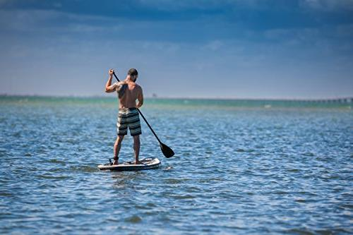 "iROCKER Inflatable Stand Up Paddle 10'6"" Long Thick SUP"
