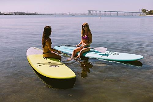 ISLE Soft Stand Up Paddle SUP Package Includes Adjustable Center Carry Slip Deck