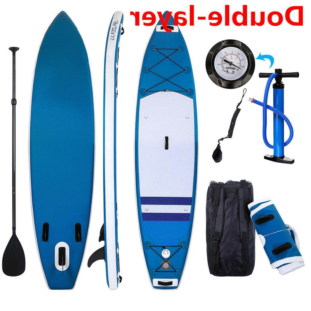 double layer standup paddle board inflatable 11ft