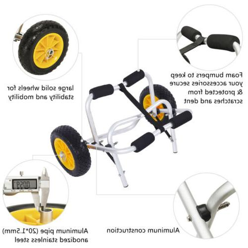 Foldable Kayak Carrier Canoe Trailer Board Wheels