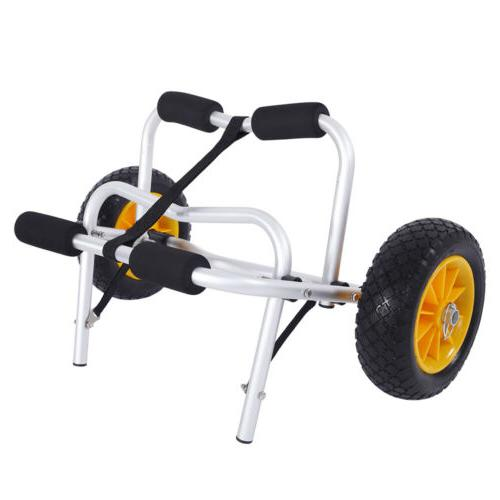 Foldable Carrier Canoe Trolley Trailer Paddle Wheels
