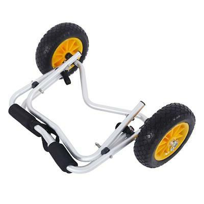 Foldable Kayak Dolly Carrier Boat Trailer Paddle Wheels