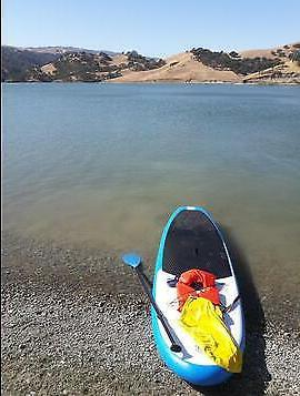 FW Inflatable Paddle Board11'*32''*6''w/Adjustable Paddle,Backpack,leash,pump