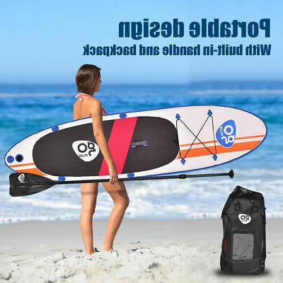 Goplus Inflatable Stand Up Fin Paddle