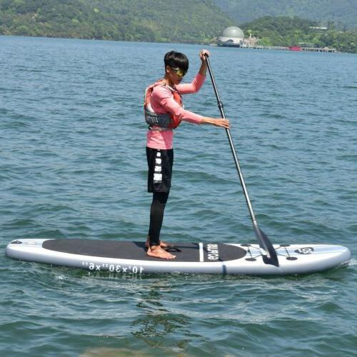 Goplus 10ft Inflatable Stand Up Paddle Board with 3 Fins Sur