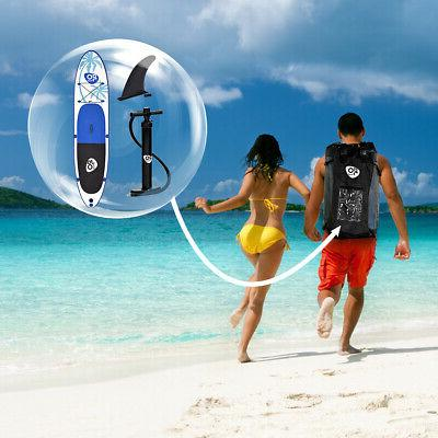 Goplus Inflatable Up Board Fin Backpack