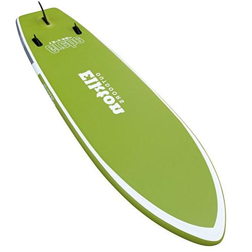 Elkton Outdoors Grebe Inflatable Paddle-Board Includes Fishing Rod Bag, Aluminum Paddle, High Pressure