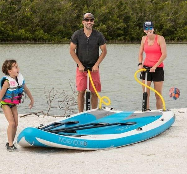 Huge Family Paddleboard Inflatable 4-6 People Paddles Pumps Leash