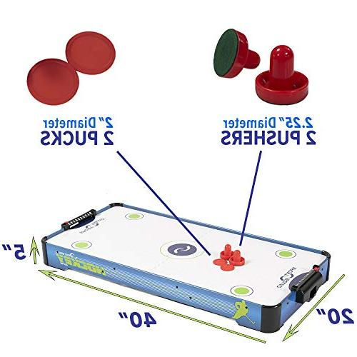 Sport Squad HX40 Electric Air Table with 2 and Pucks