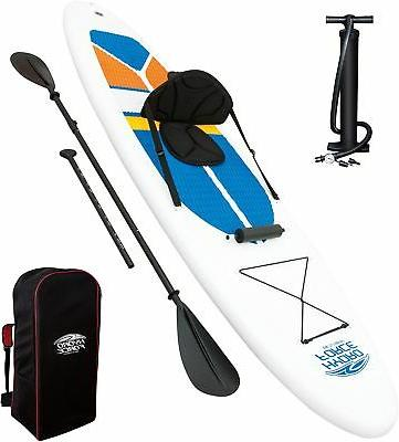 hydroforce white cap inflatable stand up paddleboard