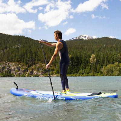 Aqua Marina Inflatable Beast 126 Inch Paddleboard Set w/ Pump, Blue