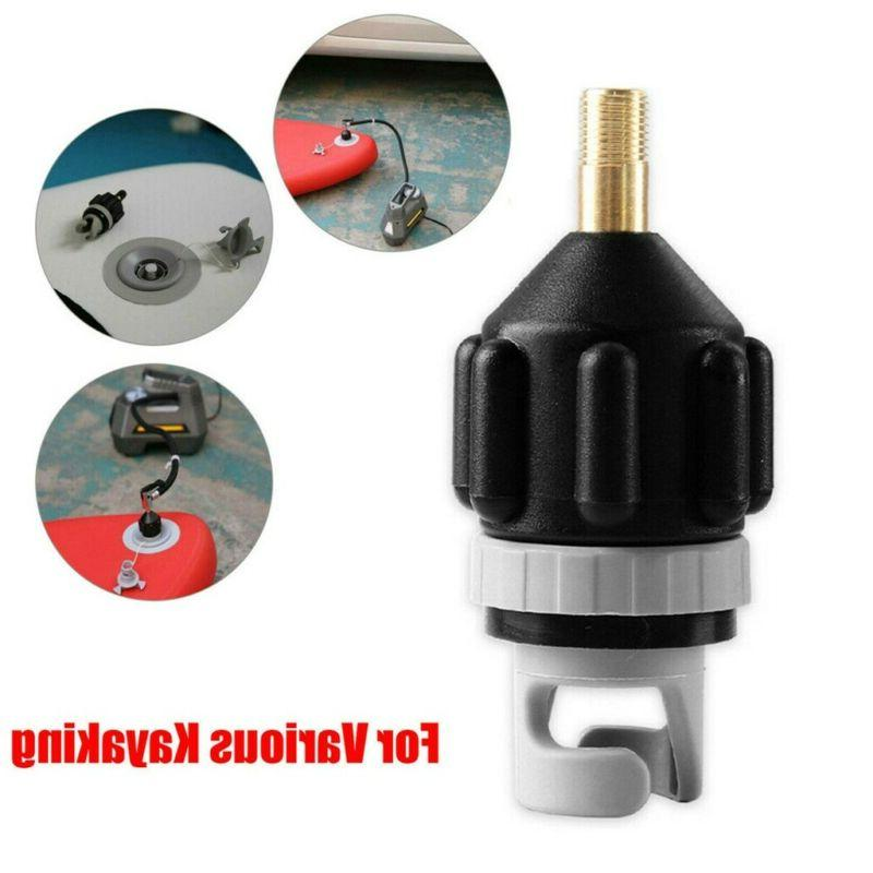 Inflatable Boat Pump Valve Adapter SUP Air Paddle Board Acce