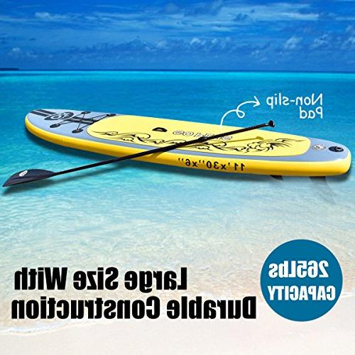 """Goplus Inflatable up Paddle Board Board Carry Bag Repair for Skill 6"""""""