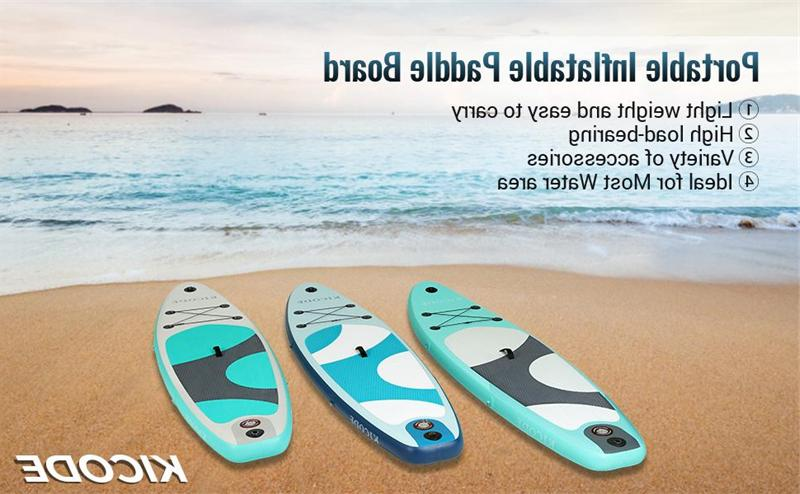 """Inflatable Paddle Surfboard 6"""" + Accessories & Bag"""