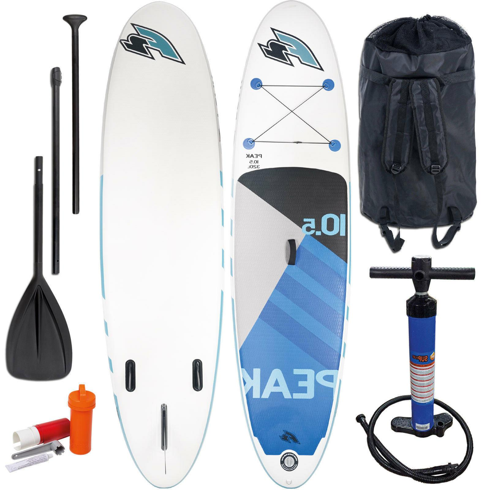 inflatable peak sup stand up paddle board