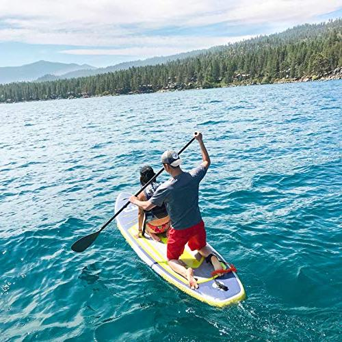 Swonder Up Durable Steady, Long 32'' Thick, Paddle |Backpack | Leash | Pump Paddling