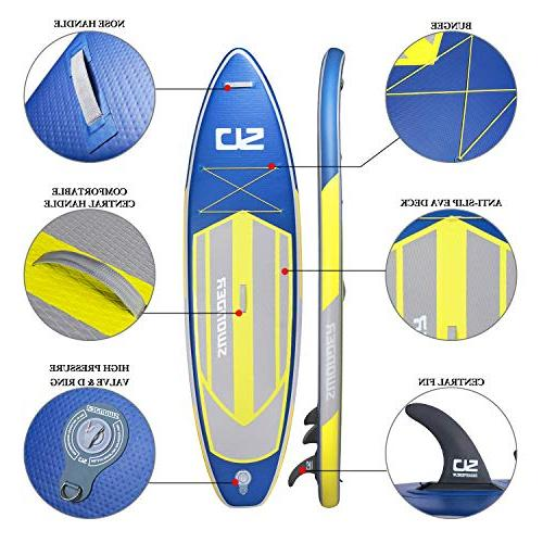 Swonder Up Durable Long 32'' 6'' Thick, Accessories- Paddle |Backpack | Leash | |Center Paddling