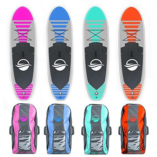 SereneLife Premium Inflatable Up Paddle Board Storage Stance, Bottom for Paddling, Control, Non-Slip Deck | Adult