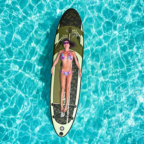 "Goplus Inflatable up Paddle Board 6"" Thickness w/3 Carry"