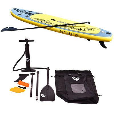 11' Stand Paddle w/ 3 Fins Paddle Backpack
