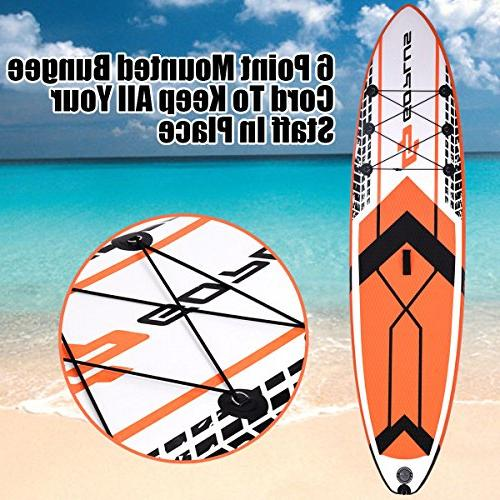 Goplus Up Paddle SUP Cruiser Fin, Adjustable Paddle Pump and Backpack