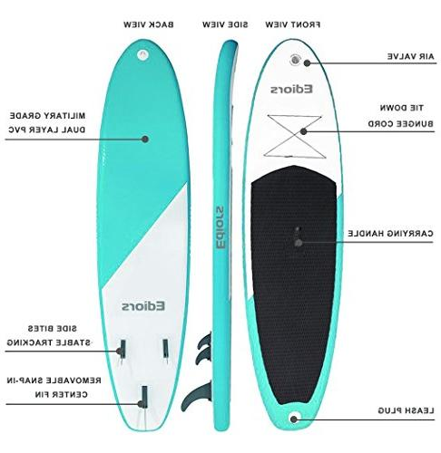 Inflatable Up Paddleboard Paddle Wide for Paddling and Surf Control Non-Slip Deck | Adjustable | Hand Pump | and