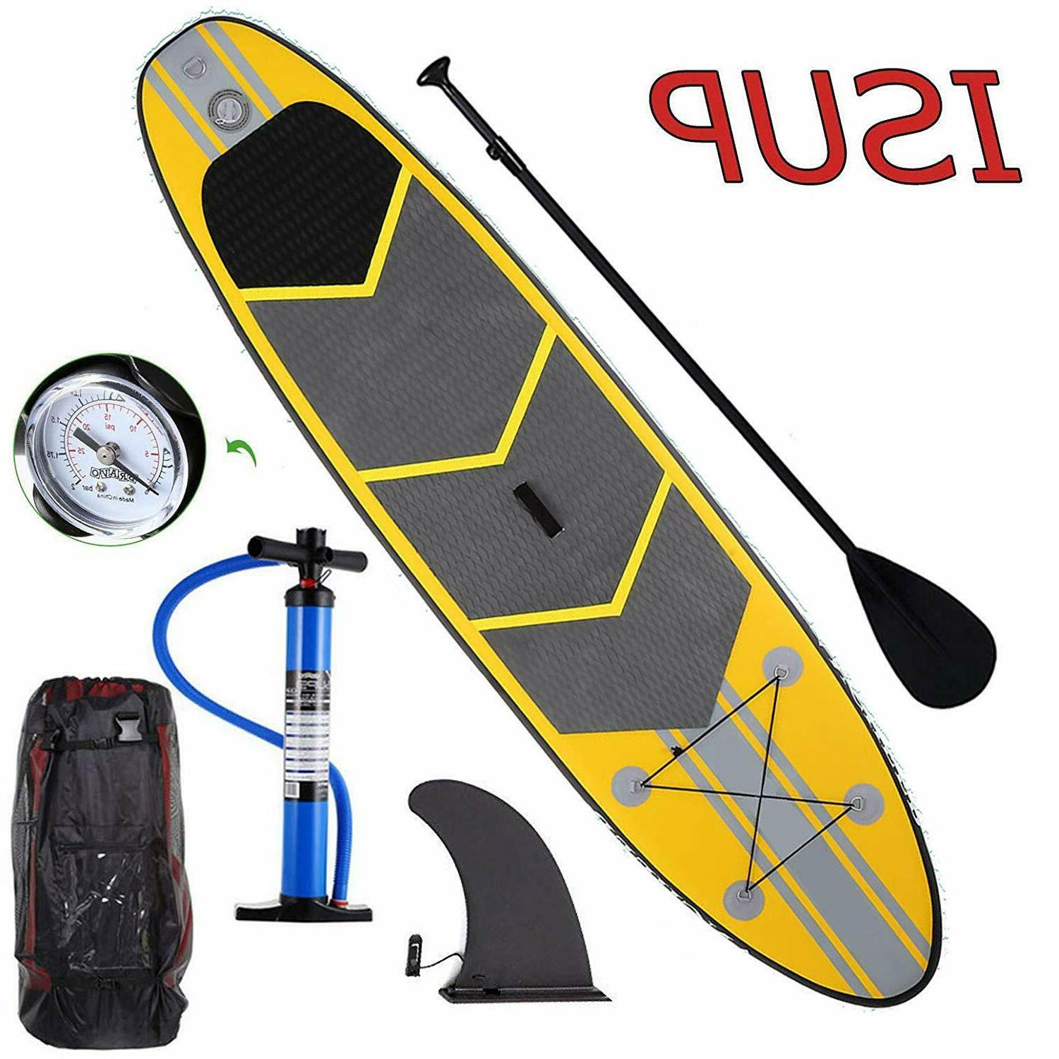 USA~10ft Inflatable Stand Up Paddle Board iSUP Adjustable Pa