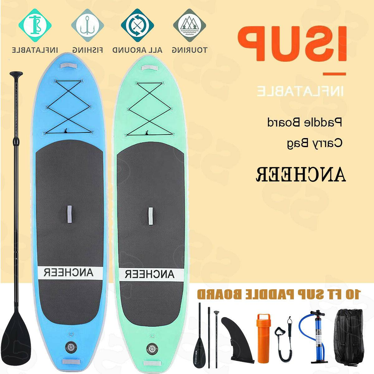 ANCHEER 10' Inflatable Stand Up Paddle Board SUP W/ Adjustab