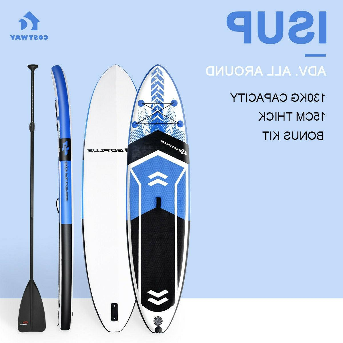 Inflatable Up Paddle Board w/ Fin