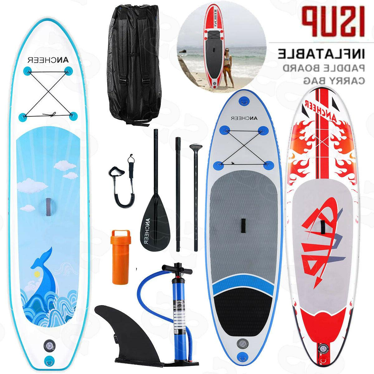 Camping ANCHEER SUP 10' Inflatable Stand Up Paddle Board Pac