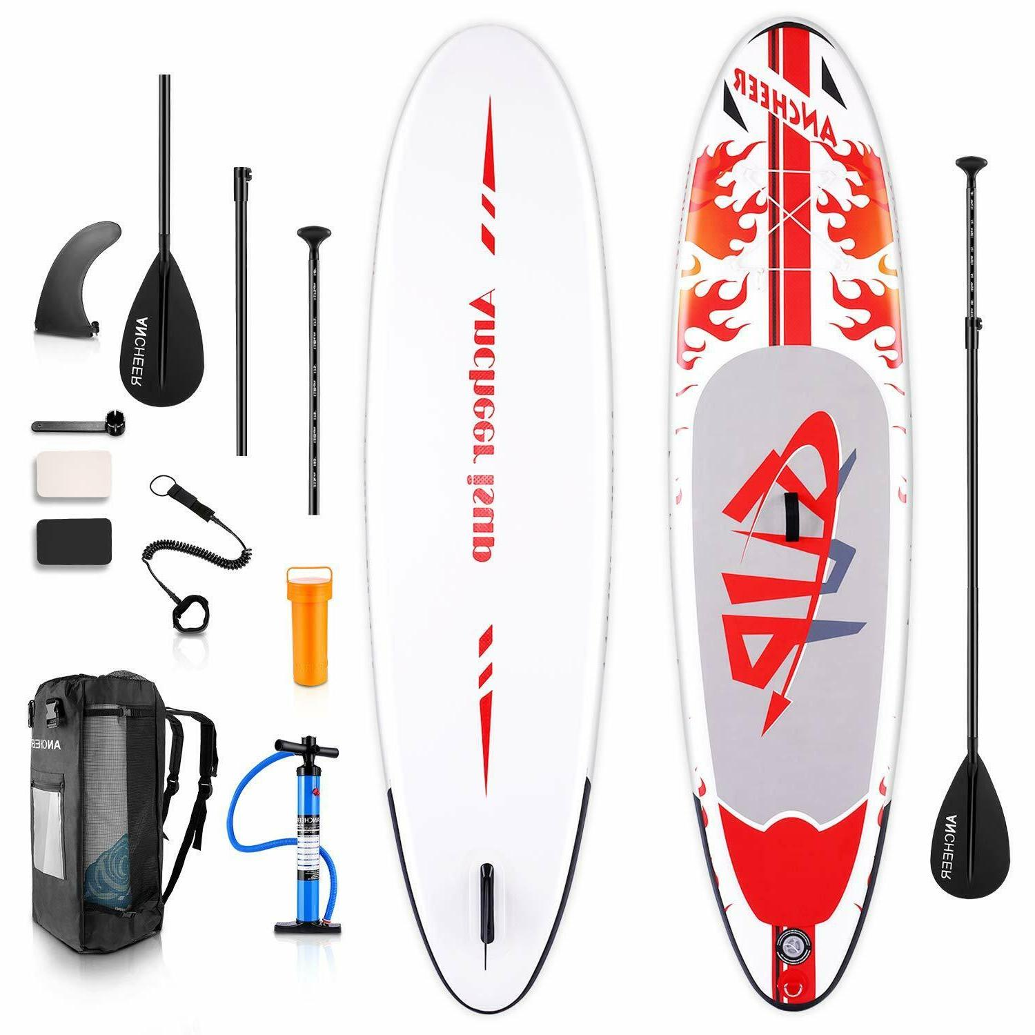 ANCHEER Inflatable Stand Up Paddle Board 10Ft. Non-Slip Deck