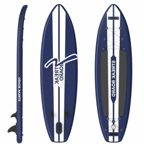 11ft Inflatable Stand Up Paddle Board Non-Slip Deck w/ SUP A
