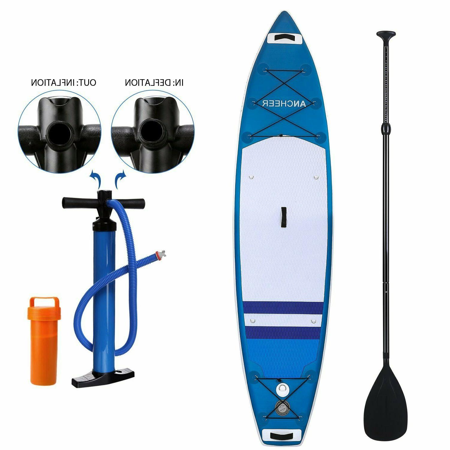 ANCHEER Inflatable Stand Up Paddle Board 11', iSUP Package w