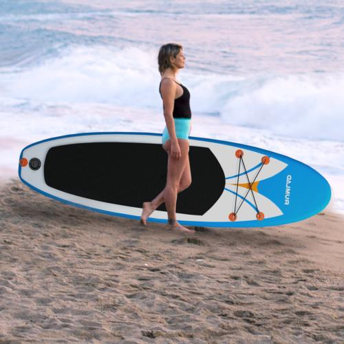 Inflatable Paddle Board w/ One-Way Pump Thick
