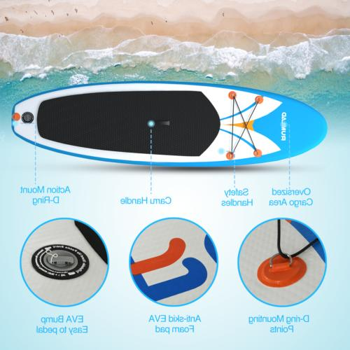 Inflatable Stand Paddle Board 4 One-Way Sup Dedicated Backpack
