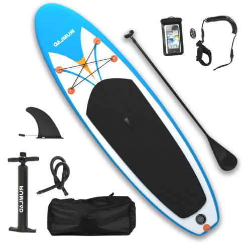 Inflatable Stand Up Paddle Board w/ One-Way Dedicated Pump &