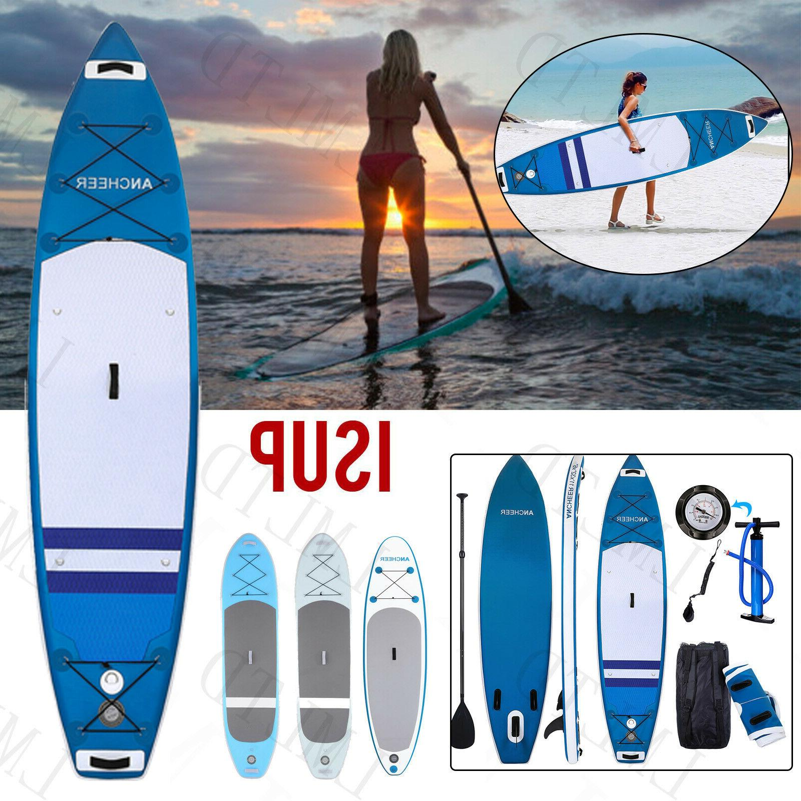 ANCHEER Inflatable Stand Up Paddle Board 10', iSUP Package A