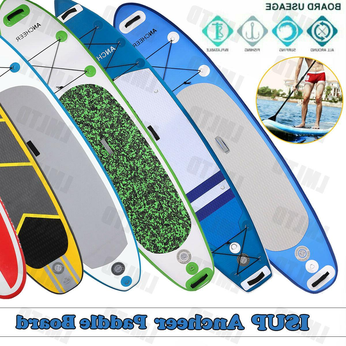 11FT/10FT SUP Inflatable Stand Up Surfing Board Soft Surf Pa