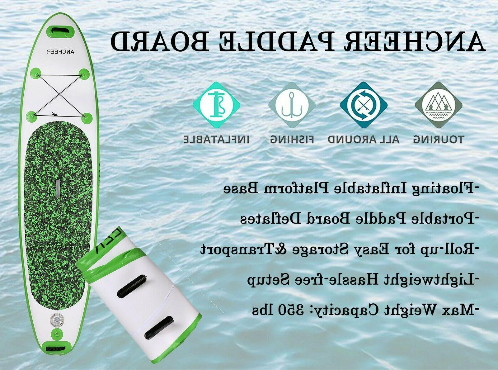 Inflatable Stand Up Paddle Board  Universal SUP Wide Stance