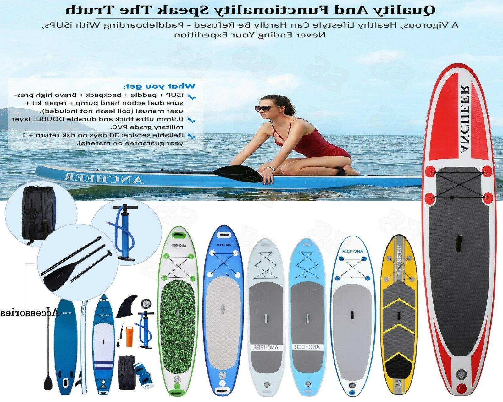 ANCHEER Inflatable Stand Paddle 10', Package Paddle1