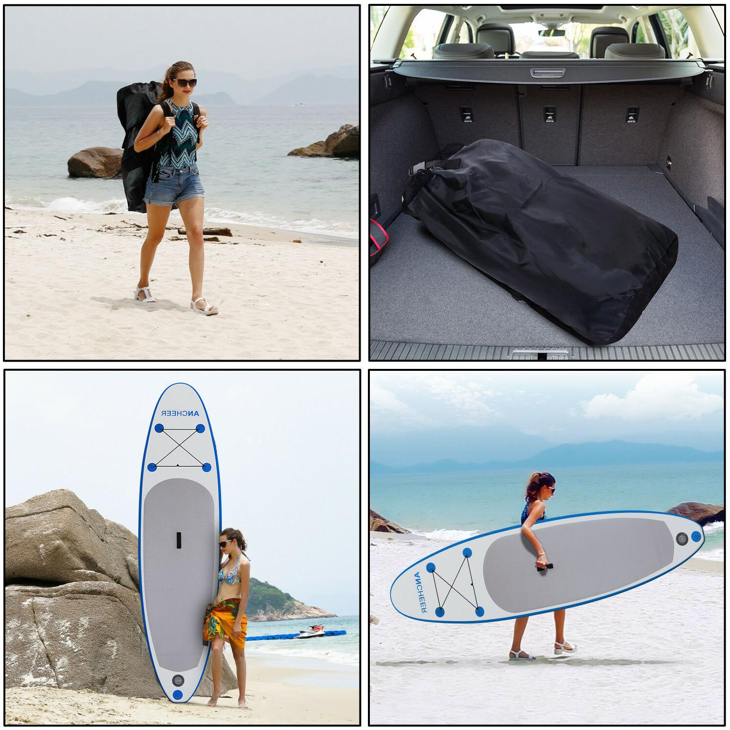 10' Yoga Fitness Inflatable Stand Up Paddle Board Package