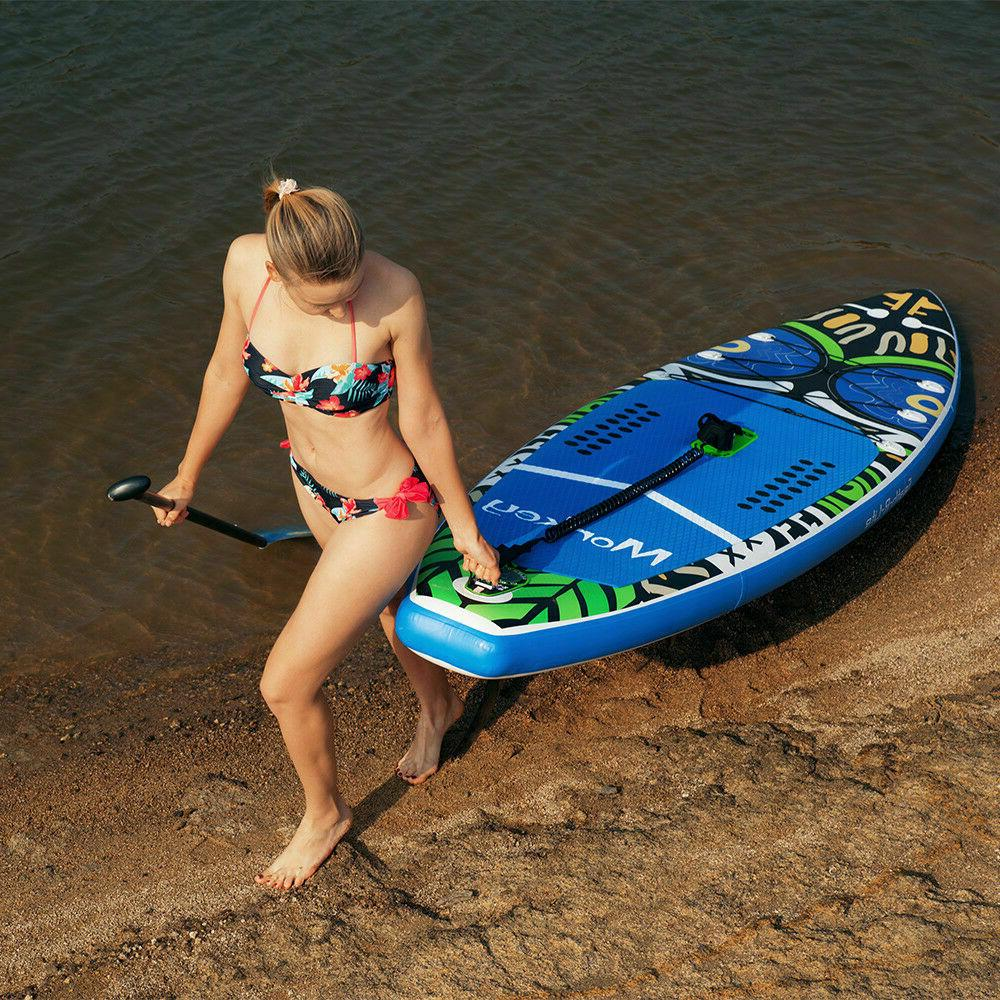 Inflatable paddle board Surfboard11'*33''*6''w/Paddle,pack,leash,pump