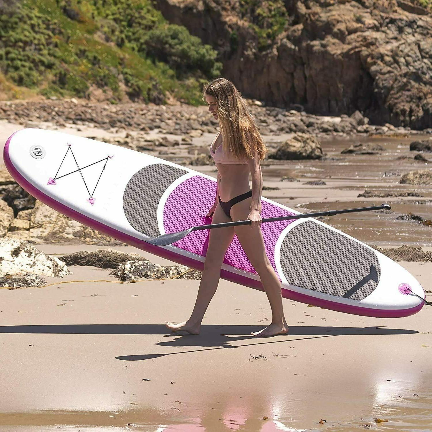 Inflatable StandUp Paddle Board Non Slip SUP W Premium Backp