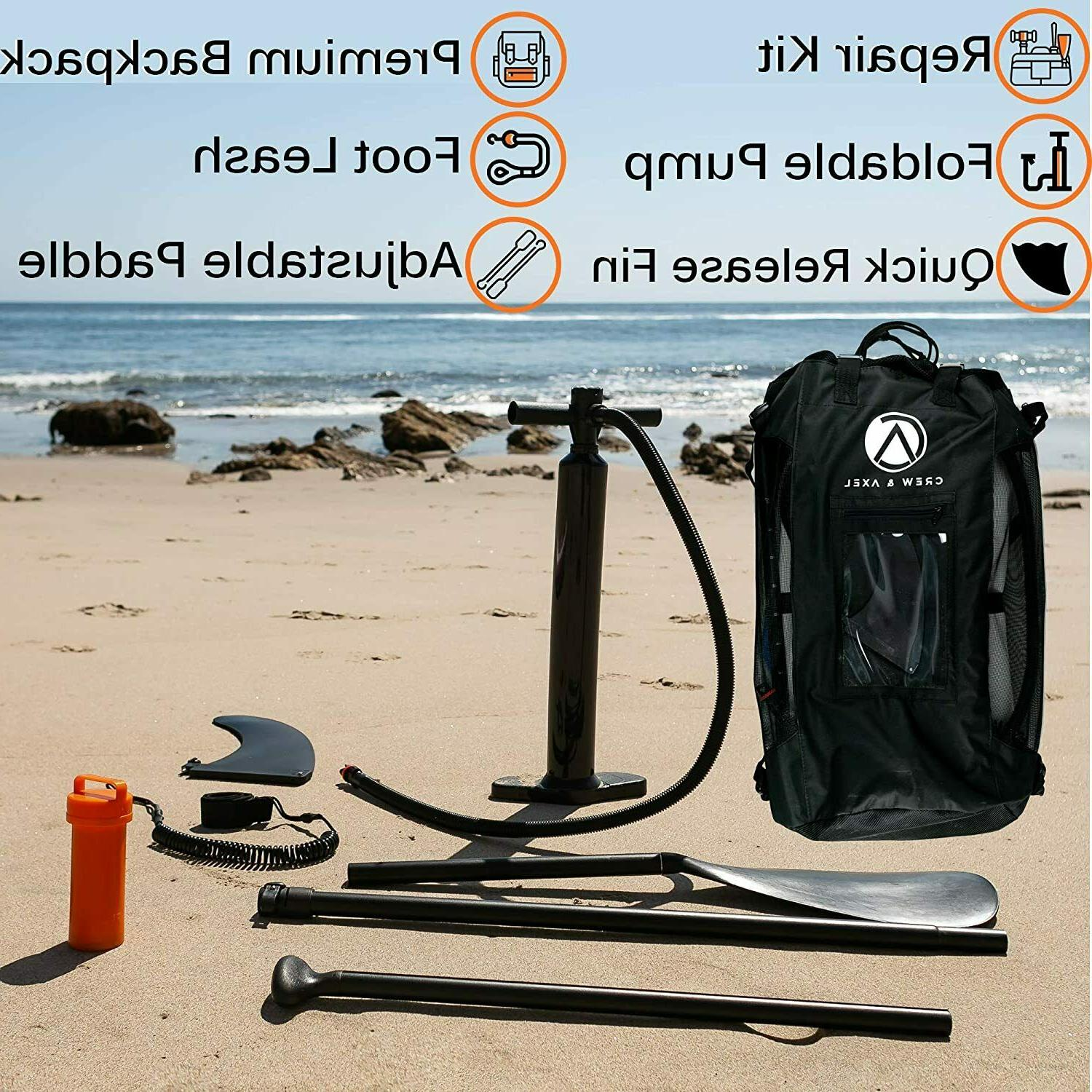"""Inflatable Non Slip Premium Backpack Fin 10'x30""""x6"""""""
