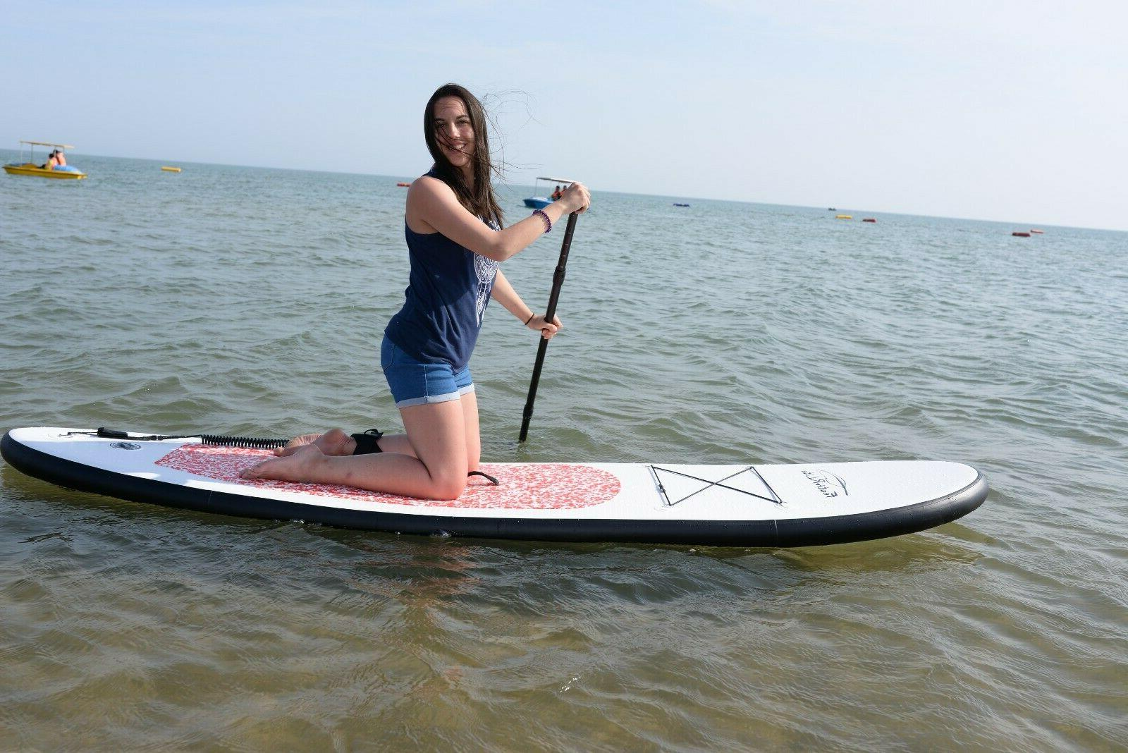 Inflatable SUP Board 10'*30''*4'w/Adjustable Paddle,Backpack,leash,pump