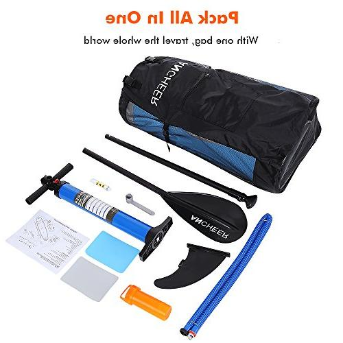 ANCHEER Paddle Package w/Adjustable Pump Backpack