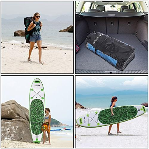 ANCHEER Paddle Board Package w/Adjustable Paddle, Pump Backpack